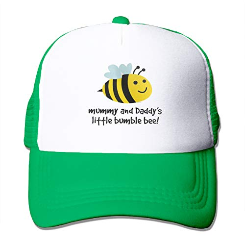 HIPGCC Little Bumble Bee Toddler Womens&Men Unisex Fashion Trucker Cap Adjustable Strapback Green (Bee Bumble Toddler Cap)
