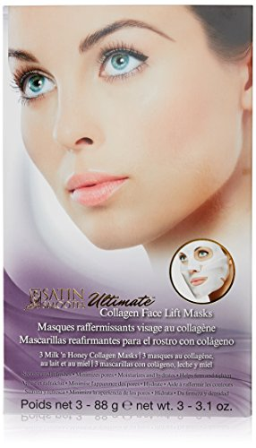 - Satin Smooth Ultimate Face Lift Collagen Mask, 3.1 Ounce, 3 Pcs