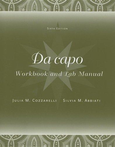 Workbook/Lab Manual for Da capo, 6th