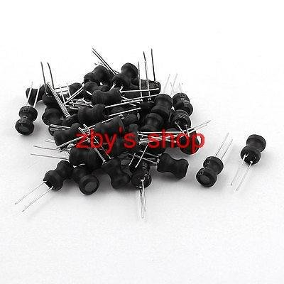 Maslin 50 x 22uH 1.2A 6x8mm 10/% Ferrite Core Shielded Radial Lead Inductor Black