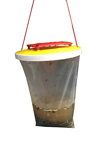 Fly Catcher Control Trap Non-Toxic Outdoor Fly Trap Red Drosophila Fly Trap Top Catcher The Ultimate Outdoor Fly Catcher Insect Bug Killer