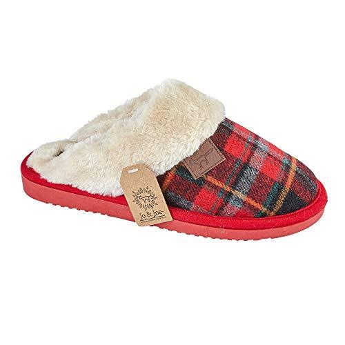 Donna Gladrags Pantofole Red Gladrags Tartan Pantofole Ut7q7