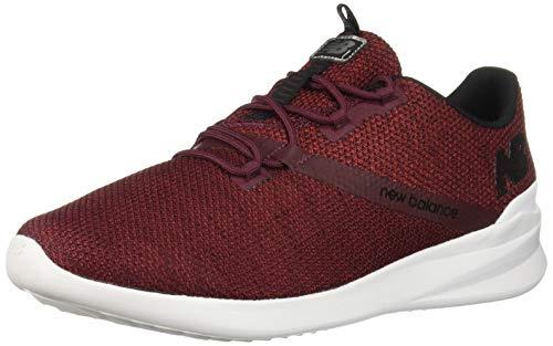 New Balance Men's District Run V1 CUSH + Sneaker, Nubuck Burgundy/Black, 9 W -