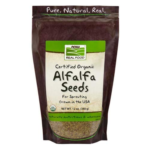 Now Foods Alfalfa Seeds for Sprouting (Certified Organic) - 12 oz. ( Multi-Pack)