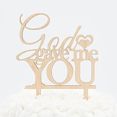 God Gave Me You Wooden Wedding Cake Topper Decoration