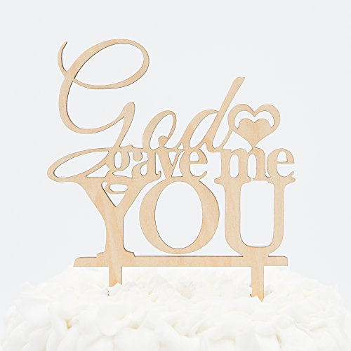 God Gave Me You Wooden Wedding Cake Topper (God Gave Me You)