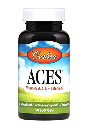 Carlson ACES, Selenium & Vitamins A C E, 50 Soft Gels