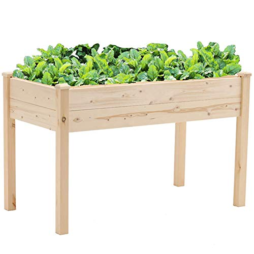 Superday Wooden Raised Garden Bed Planter Kit 4