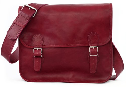 M Retro Vintage Leather Computer Vintage Satchel SACOCHE amp; bag Bag LA MARIUS Shoulder satchel burgundy Unisex School PAUL BORDEAUX A4 TWqPHRE