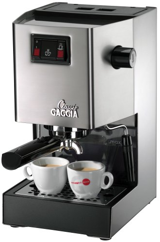 Gaggia 14101 Classic Semi-Automatic Espresso Maker. Pannarello Wand for Latte and Cappuccino Frothing. Brews for Both Single and Double Shots.