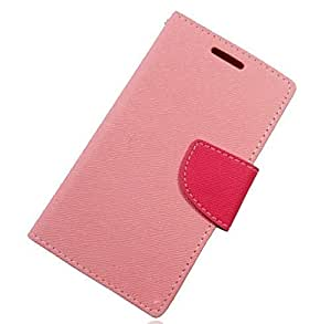 New Colorful Case for HTC One E8 Fashion Wallet Flip Leather Cover With Stand-Pink(With 2 PCS Gift Sticker)