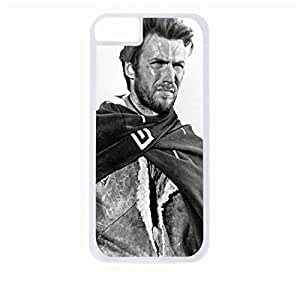 Zheng caseClint Eastwood- Hard White Plastic Snap - On Case-Apple Iphone 6 Only - Great Quality!