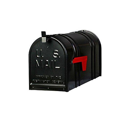 (Postal Pro Carlton Post-Mount T2 Mailbox, Black)