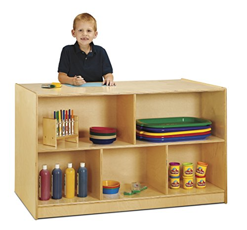 Jonti-Craft 3093JC Double-Sided Island Single + 20 Cubbie-Tray with Colored Trays