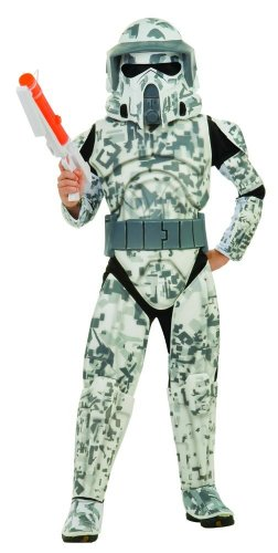 Star Wars Clone Wars Clone Troopers (Star Wars The Clone Wars, Child's Deluxe Costume And Mask, Arf Trooper Costume)