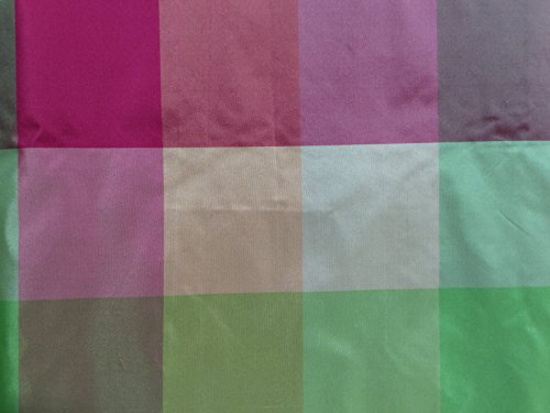 (Pink & Green - Silk Taffeta )