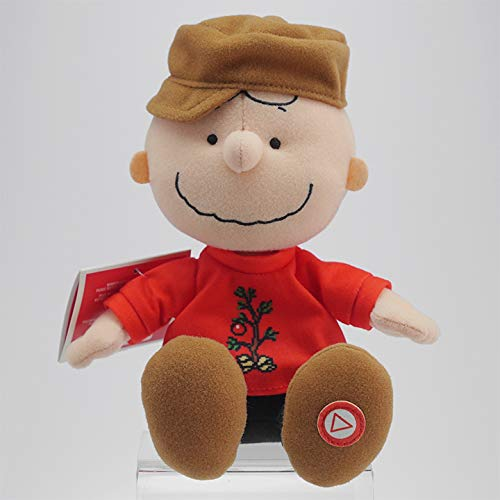 Hallmark Plush Charlie Brown Talking Stuffed Animal Wearing a Christmas Sweater from Hallmark Home