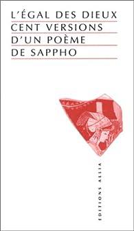 L'Egal des dieux par  Sapphô