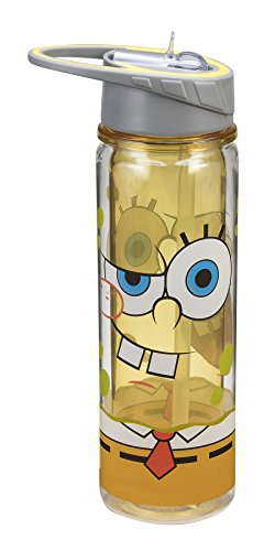 Vandor 21075 SpongeBob Square Pants Tritan Water Bottle, 18-Ounce, (Spongebob Squarepants Water)