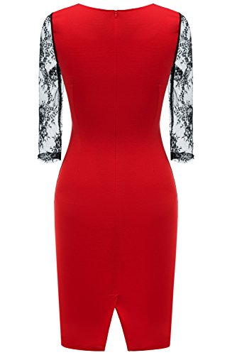 Kleid in rot knielang