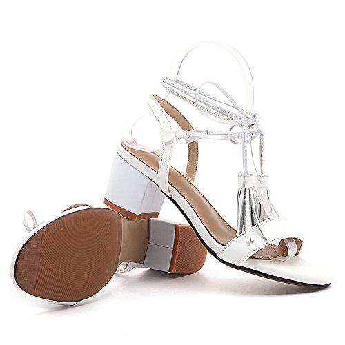 AN 35 DIU01156 White Bianco Donna Ballerine AqHwxrOXA