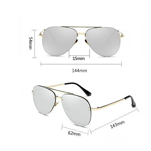 Mirror 100 PolariséEs TESITE Silver Soleil UV Lunettes Lunettes De sans P8TPOq