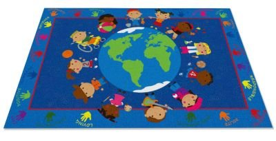 Kid Carpet FE801-34A World Character Nylon Area Rug, 6' x 8'6'', Multicolored by Kid Carpet (Image #1)
