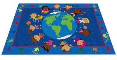 Kid Carpet FE801-34A World Character Nylon Area Rug, 6' x 8'6'', Multicolored