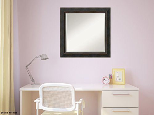 Wall Mirror Signore Square, Signore Bronze Wood: Outer Size 24 x 24'' by Amanti Art (Image #3)