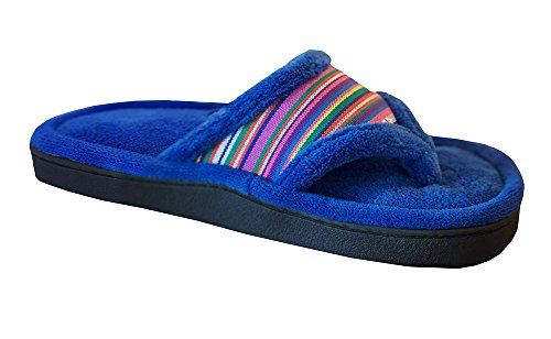 55cf7c1f312 Isotoner Women s Microterry Thong Slipper Cabana Striped - Import It All