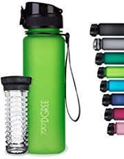 "720°DGREE Drinkfles""uberBottle"" +Vruchteninzet - 350ml, 500ml, 650ml, 1l, 1.5l - Waterfles BPA-Free, Lekvrij - Sportfles voor Sport, Gym, Fitness, Fiets, Kinderen, School en kantoor"