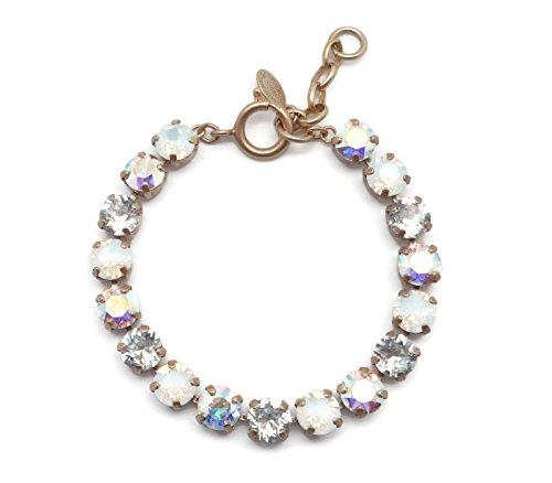 Catherine Popesco White Opalescent & Crystal AB Mix Swarovski Crystal Goldtone Bracelet ()
