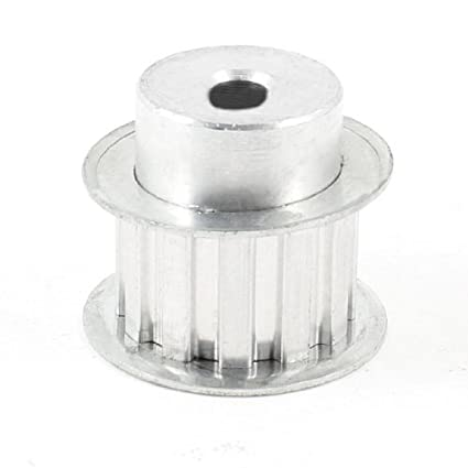 eDealMax tono de plata de aleación de aluminio L Tipo 12 dientes piloto de 8 mm Diámetro Polea - - Amazon.com