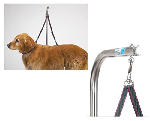 moondon-nylon-grooming-table-harness-for-dogs-27-inches-adjustable-double-dog-noose