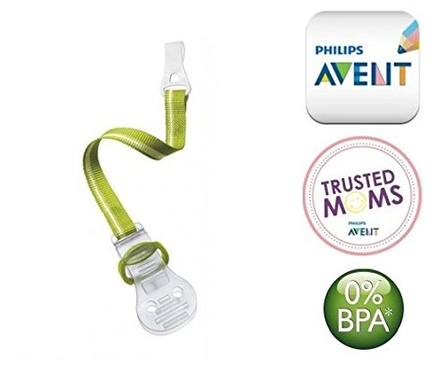 Philips AVENT N. SCF185/00  –   1  X catena ciuccio clip Holder/Verdi (0  m +) SCHNULLERKETTEN PHILIPS AVENT
