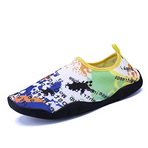 piel playa aire natación seguridad texto rápido secado de calzado libre pegada buceo Imagen snorkeling Piscina de zapatos calzado antideslizante de y de al Lucdespo luz wxOfTz