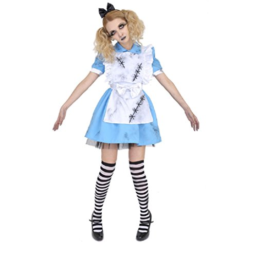 Zombie Alice Costumes (Death of Doll Crazy Alice Costume -- Women's XS/S Size)