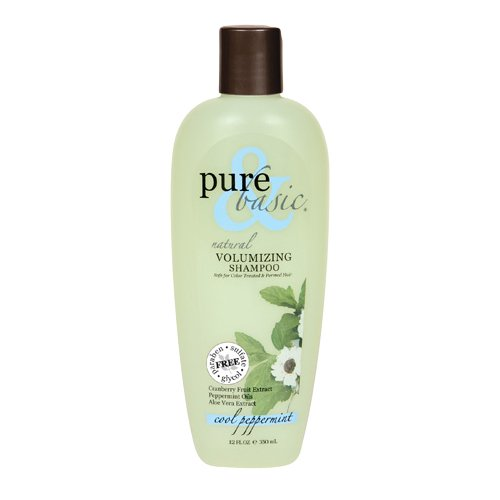 Basic Cool Peppermint Natural (Pure and Basic Natural Volumizing Shampoo, Cool Peppermint, 12 Fluid Ounce)