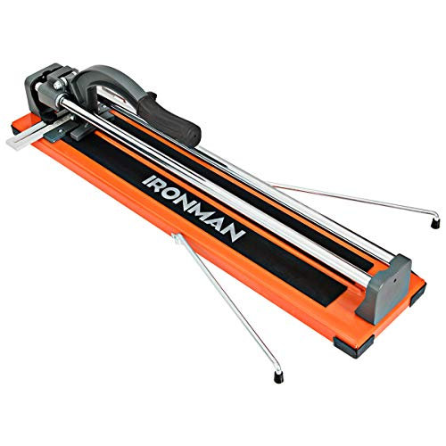 Goplus 24 Inch Manual Tile Cutter, Professional Porcelain Ceramic Floor Tile Cutter with Tungsten Carbide Cutting Wheel and Removable Scale