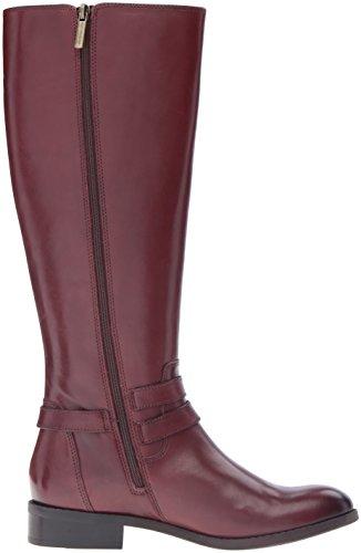 Clarks Women's Pita Vienna Riding Boot, US Mahogany Leather
