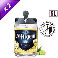 Bière - AFFLIGEM Lot de 2 Fûts de biere Blonde - Compatible Beertender - 5 L