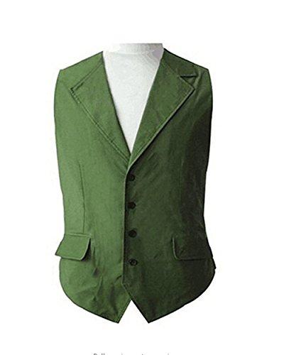 Dream-Store Men's Green Vest Halloween Cosplay Costume (M) ()