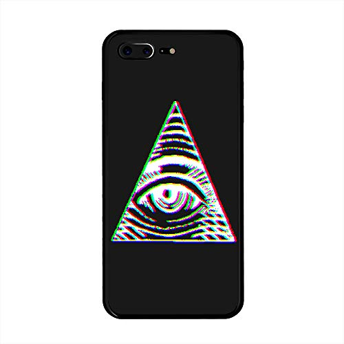 iPhone 7 Plus/iPhone 8 Plus Case, VHS Illuminati TPU Customization for iPhone 7 Plus/iPhone 8 Plus 5.5 inch Protective Shell -