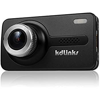 KDLINKS X1 Full-HD 1920 x 1080 165 Degree Wide Angle Dashboard Camera Recorder Car Dash Cam with GPS, G-Sensor & WDR Superior Night Mode