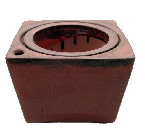 square-self-watering-ceramic-pot-with-felt-feet-red-6-x-4-3-8-11088red