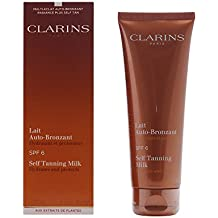 Clarins Self Tanning Milk SPF 6 for Unisex, 4.2 Ounce