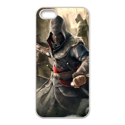 Ezio Auditore Da Firenze 002 coque iPhone 5 5S Housse Blanc téléphone portable couverture de cas coque EOKXLLNCD15870
