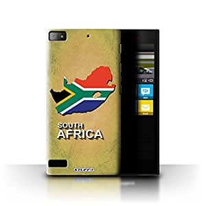 STUFF4 Phone Case / Cover for Blackberry Z3 / South Africa/African Design / Flag Nations Collection