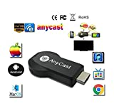 Goldshine Anycast Ezcast Miracast Any Cast,High Speed Miracast Dongle, Wireless HDMI 1080P Screen Mirror Dongle, Airplay DongleI Connector for Android Phone IPhone IPad IOS/Android/Windows/TV/MAC OSX
