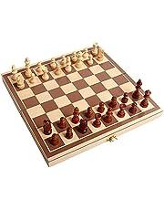 Vuxna Chess Board Set Chess Set, Folding Trä Standard Travel International Chess Board Game Set